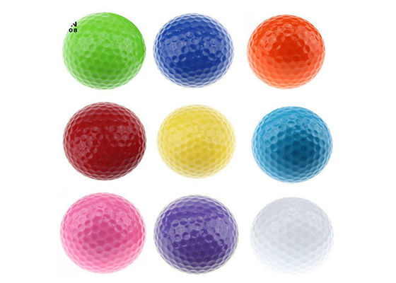 China Outdoor Promotional Bulk Golf Balls With Rubber & Surlyn Material , 42.6-42.8mm Diameter supplier